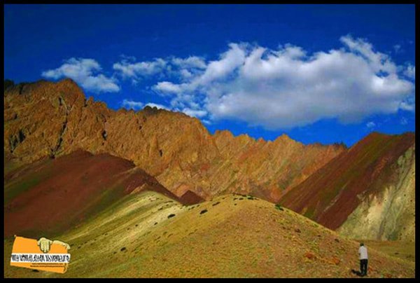 The numerous hues of colors on display in Ladakh and on this climb